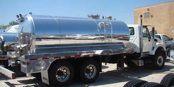 "New 3600 USG #5454 .260"" Polished Aluminum Tank"